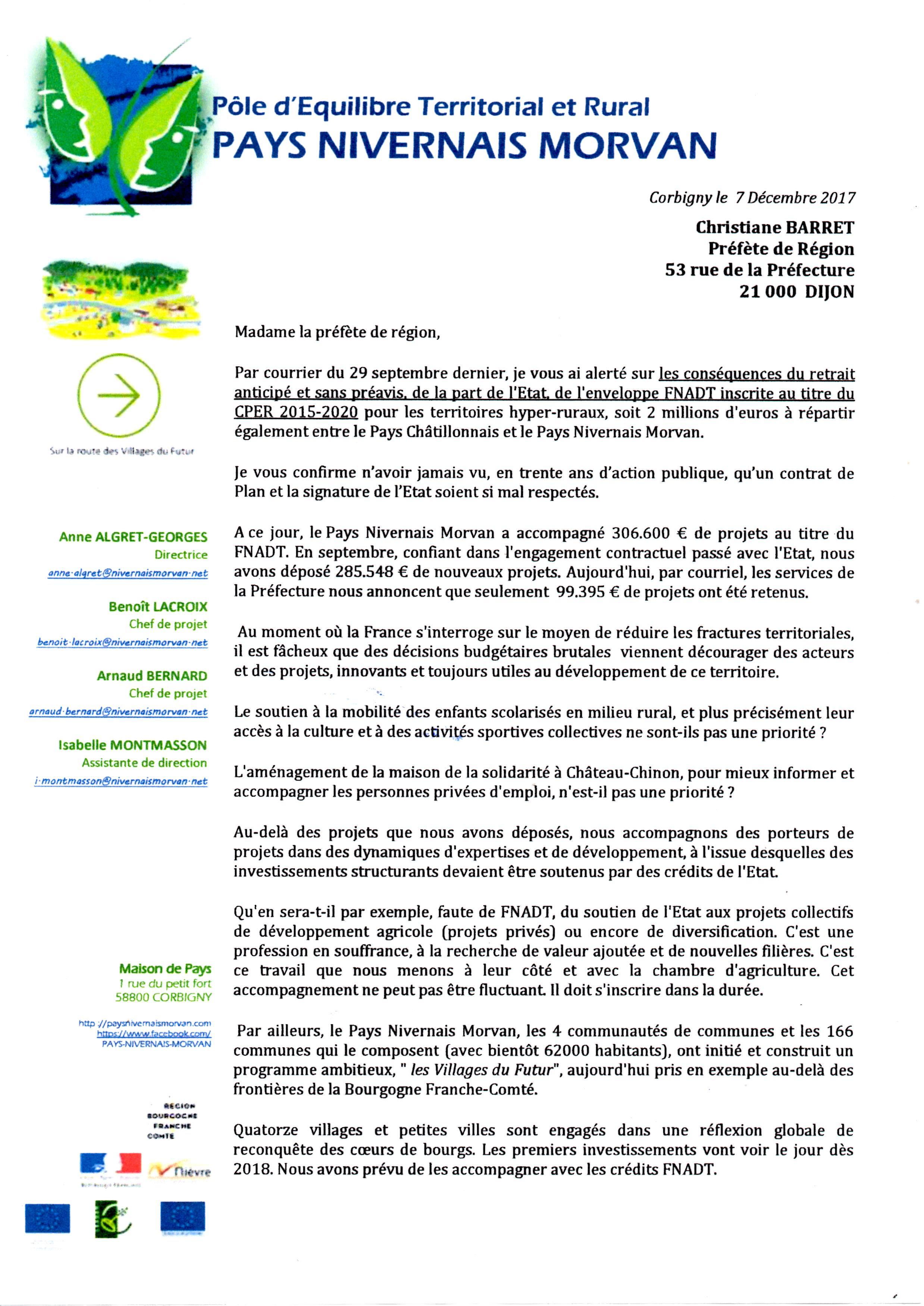 20171207-lettre C.Paul à Prefet Region -1-